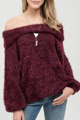 Blu Pepper Burgundy Bliss Sweater
