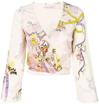 Etro wrapped front blouse