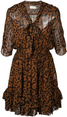Nicholas leopard print flared dress