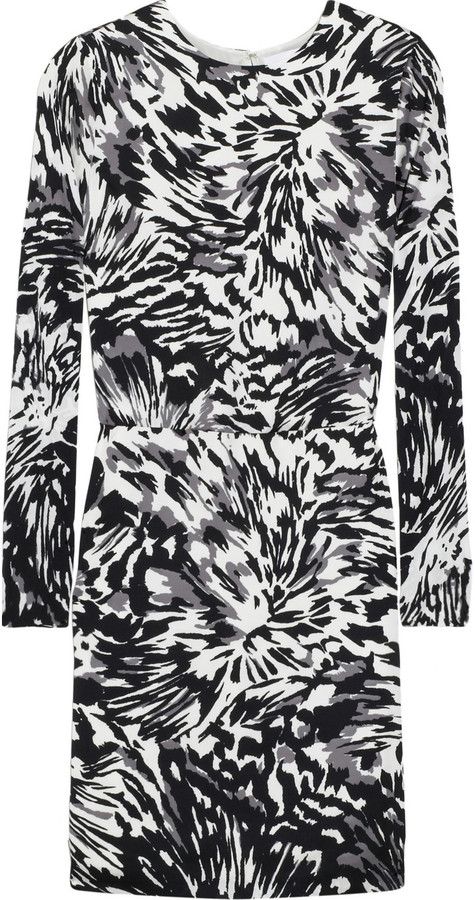 Adam Printed satin dress