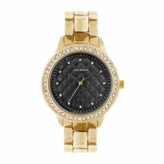 ROCAWEAR Rocawear Womens Gold Tone Bracelet Watch-Rl11668g1-758 $45 thestylecure.com