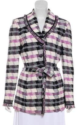 St. John Fringe-Accented Long Sleeve Jacket