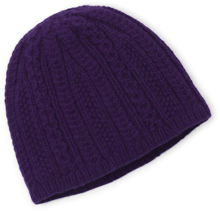Cashmere and Wool Knit Hat