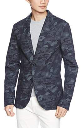 Armani Exchange A|X Men's Denim Camo Blazer