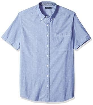 Nautica Men's Big and Tall Short Sleeve Signature Print Button Down Shirt