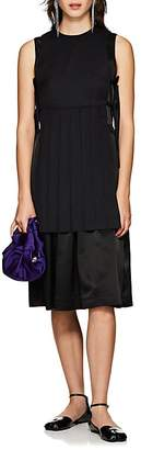 Noir Kei Ninomiya Women's Wool-Apron Satin Sheath Dress