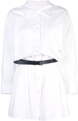 Alexander Wang belted shirt dress