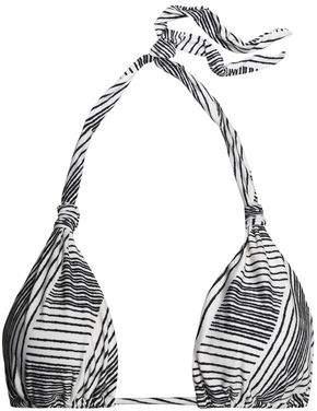 Vix Paula Hermanny Printed Halterneck Triangle Bikini Top