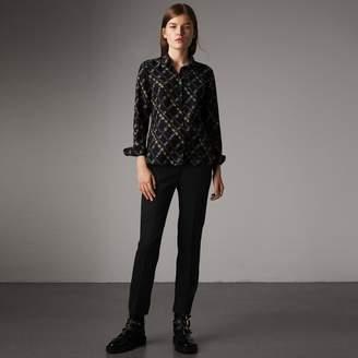 Burberry Ribbon Detail Tie-waist Wool Trousers