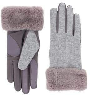 Isotoner Faux Fur Trim Gloves