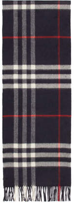 Burberry Navy Giant Icon Cashmere Scarf