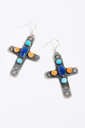 Navajo Arts & Crafts Enterprise Navajo Stone Cross Earrings