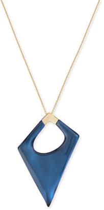 Alexis Bittar Asymmetric Statement Pendant Necklace, Blue Velvet $175 thestylecure.com