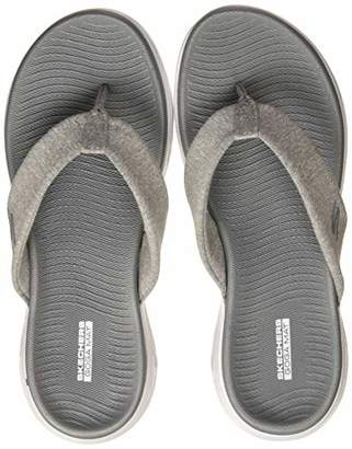 be244da60 at Amazon.co.uk · Skechers Women s ON-The- ON-The-GO 600 Flip Flops Grey Gry