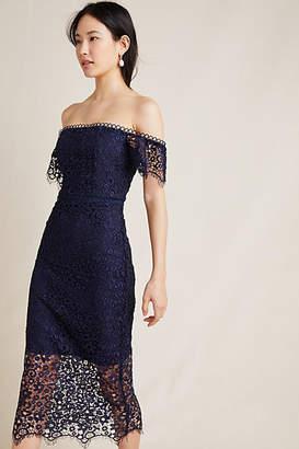 1cae654b1528 ML Monique Lhuillier Off-The-Shoulder Lace Dress