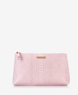 GiGi New York Large Cosmetic Case Embossed Python