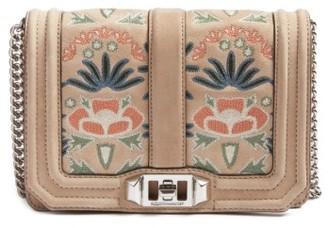 Rebecca Minkoff Small Love Embroidered Nubuck Crossbody Bag - Beige $275 thestylecure.com