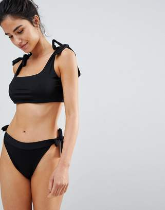 PrettyLittleThing High Leg Tie Side bikini Bottom