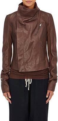 Rick Owens Women's Classic Biker Jacket $2,100 thestylecure.com
