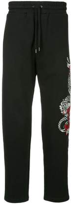 Dragon Optical Ports V embroidered track pants