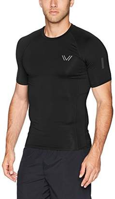 Peak Velocity Men's Sync Short Sleeve Compression-Fit Run Shirt