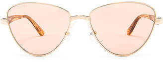 Balenciaga Sunglasses in Shiny Light Gold | FWRD