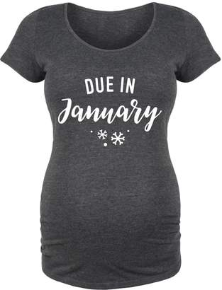 Bloom Maternity Due in January-Maternity Scoop Neck TEE-S