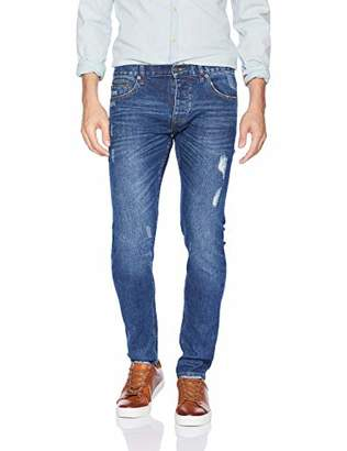 The Kooples Men's Slim Destroyed Jeans in Japanese Denim
