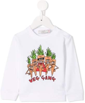 Stella McCartney Veg Gang print sweater
