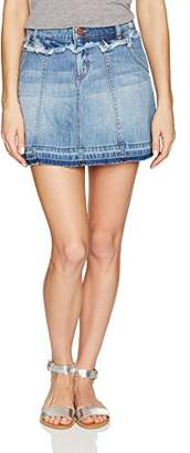William Rast Women's Line Denim Skirt