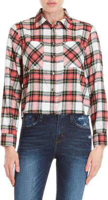 U.S. Polo Assn. Cropped Plaid Flannel Shirt