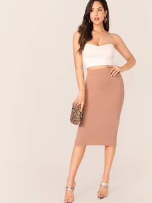 d4288b51a Womens Khaki Pencil Skirt - ShopStyle
