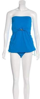 MICHAEL Michael Kors Ruched Two-Piece Swimsuit w/ Tags