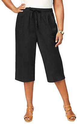 Karen Scott Plus Keira Cotton Capri Shorts