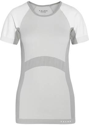 Falke Ergonomic Sport System - Paneled Stretch-knit T-shirt - Light gray