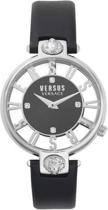 Versace VERSUS VERSUS by Kristenhof Leather Strap Watch, 34mm