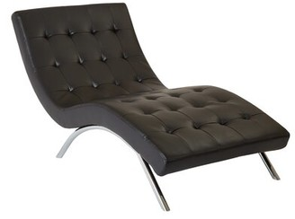 Ave Six Blake Tufted Chaise Lounge