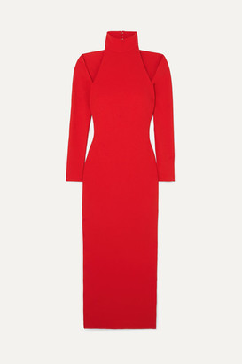 SOLACE London Grayson Cutout Stretch-crepe Midi Dress - Red