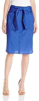 Lark & Ro Women's Tie-Front Skirt