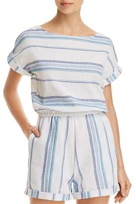 Splendid Tapestry Stripe Romper Swim Cover-Up