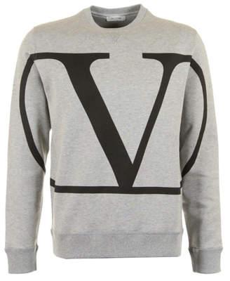 Valentino v logo sweatshirt grey