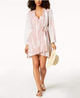 Raviya Tie-Dyed Wrap Dress Cover-Up