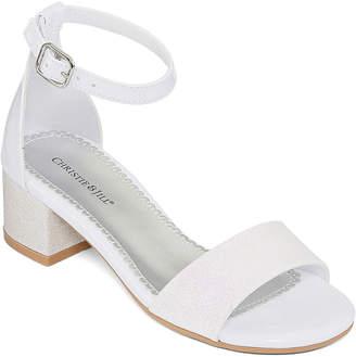 a43b0feb7222 Christie   Jill Little Kid Big Kid Girls Cj Mallory Buckle Open Toe Block  Heel