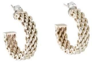 Tiffany & Co. Somerset Mesh Hoop Earrings silver Somerset Mesh Hoop Earrings