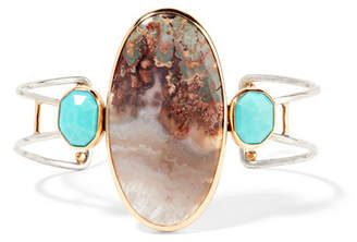 Melissa Joy Manning 14-karat Gold, Sterling Silver, Turquoise And Agate Cuff