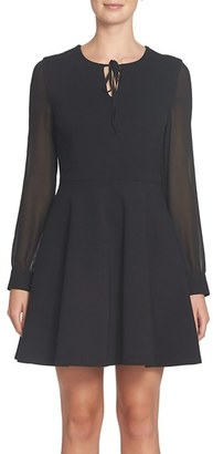 Women's Cece Dakota Keyhole Fit & Flare Dress $138 thestylecure.com