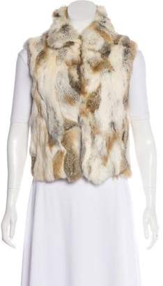Adrienne Landau Pieced Fur Vest