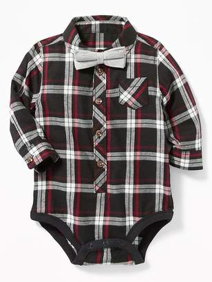 Old Navy Plaid Bodysuit & Bow-Tie Set for Baby