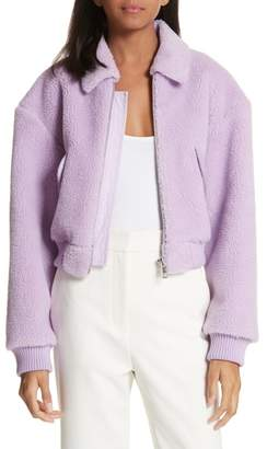 Tibi Plush Fleece Jacket