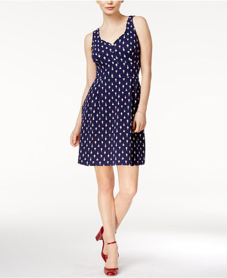 Maison Jules Printed A-Line Dress, Created for Macy's $79.50 thestylecure.com